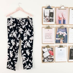 Banana Republic Tapered Ankle Pants Medium Floral